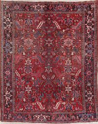 Tribal Geometric Heriz Persian Wool Area Rug 7x8