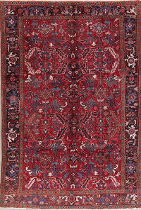 Tribal Geometric Heriz Persian Wool Area Rug 6x9