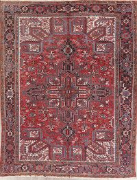 Tribal Geometric Heriz Persian Wool Area Rug 8x11