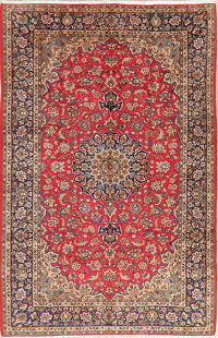 Vintage Floral Red Najafabad Persian Wool Area Rug 8x12