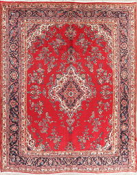 Vintage Floral Shahbaft Persian Area Rug 10x13