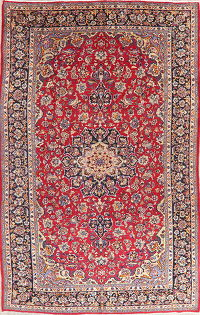 Vintage Floral Najafabad Persian Area Rug 8x13