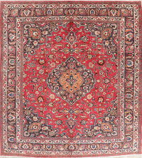 Traditional Red Mashad Persian Area Rug 10x13