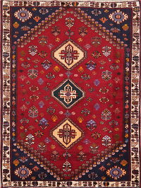 Tribal Abadeh Nafar Persian Wool Rug 4x5