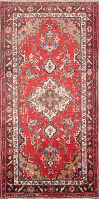 Vintage Red Shahbaft Persian Wool Rug 3x6
