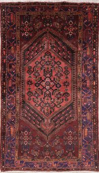 Tribal Geometric Hamedan Persian Wool Rug 4x7