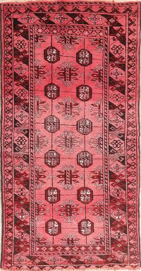 Tribal Geometric Balouch Persian Runner Rugs 3x6