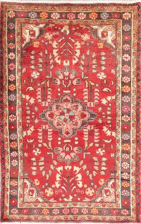 Vintage Red Lilian Persian Wool Rug 4x6