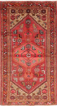 Tribal Geometric Hamedan Persian Wool Rug 3x6