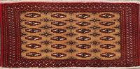 Geometric Turkoman Persian Wool Rug 2x4