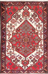 Tribal Geometric Bakhtiari Persian Wool Rug 4x5