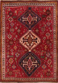 Tribal Geometric Abadeh Nafar Persian Wool Rug 3x5