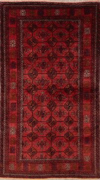Vintage Red Balouch Persian Wool Rug 4x6