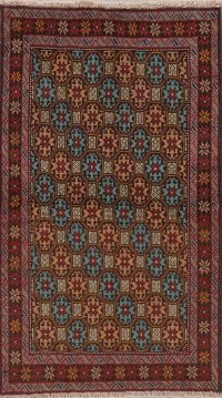 Geometric Balouch Persian Runner Rugs 3x6