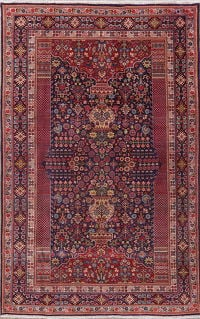 Tribal Navye Blue Kashkoli Persian Wool Rug 5x8