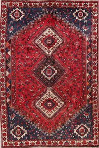 Antique Tribal Shiraz Persian Wool Area Rug 7x10