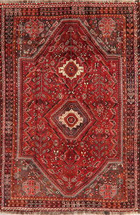 Vintage Tribal Red Lori Persian Wool Rug 5x8