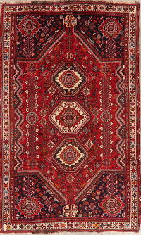 Tribal Geometric Abadeh Persian Wool Rug 5x9