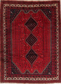 Geometric Red Shiraz Persian Area Rug 7x9