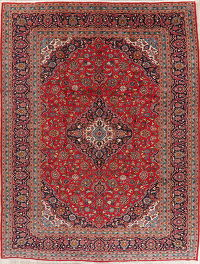 Traditional Floral Red Kashan Persian Area Rug 10x13