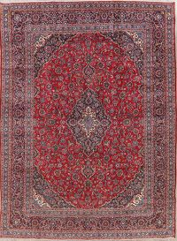 Traditional Floral Red Kashan Persian Area Rug 9x13