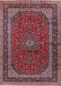 Traditional Red Kashan Persian Wool Rug 10x13