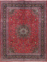 Traditional Floral Red Kashmar Persian Wool Area Rug 10x12