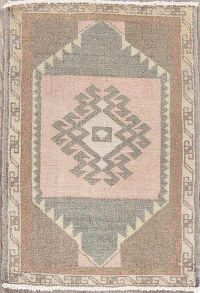 Vintage Oushak Turkish Oriental Wool Rug 2x2 Square