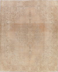 Antique Tabriz Muted Distressed Persian Area Rug 10x12