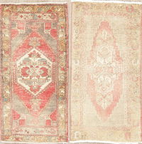 Set of 2 Muted Distressed Oushak Turkish Oriental Rugs 2x3