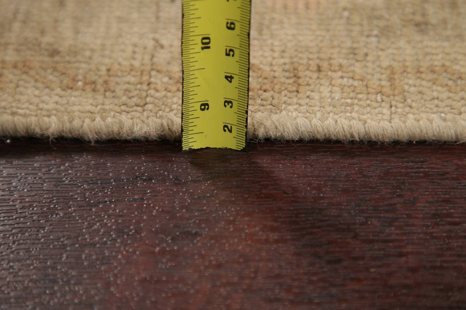 Antique Muted Gold Distressed Sarouk Persian Wool Rug 5x8 image 6