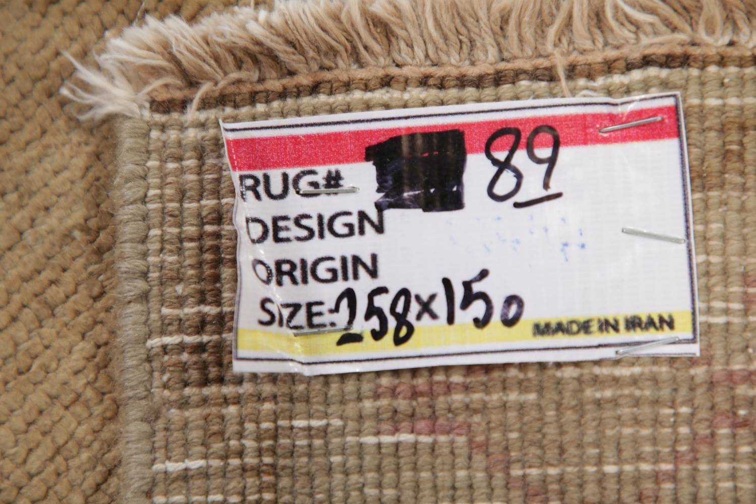 Antique Muted Gold Distressed Sarouk Persian Wool Rug 5x8 image 20
