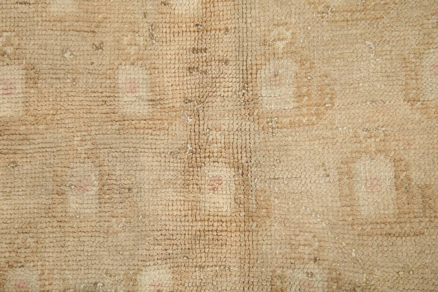 Antique Muted Gold Distressed Sarouk Persian Wool Rug 5x8 image 9