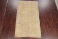 Antique Muted Gold Distressed Sarouk Persian Wool Rug 5x8 image 2