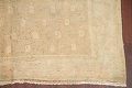 Antique Muted Gold Distressed Sarouk Persian Wool Rug 5x8 image 5