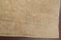 Antique Muted Gold Distressed Sarouk Persian Wool Rug 5x8 image 13