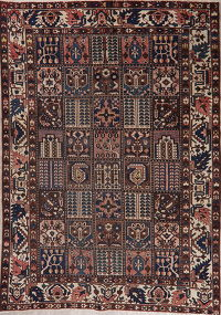 Vintage Patch-Work Bakhtiari Persian Area Rug 7x10