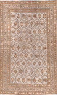 All-Over Vintage Ferdos Persian Wool Area Rug 7x10