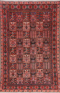 Vintage Patch-Work Bakhtiari Persian Area Rug 6x9