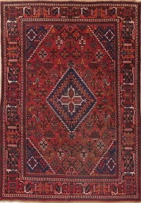 Vintage Red Joshaghan Persian Area Rug 7x10