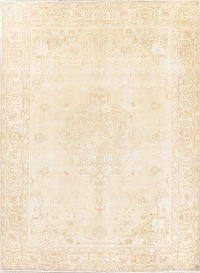 Antique Tabriz Muted Distressed Persian Area Rug 8x11