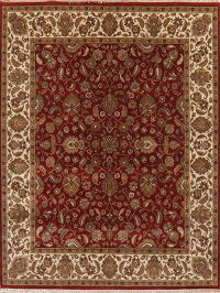 Traditional Floral Burgundy Agra Oriental Area Rug 9x12