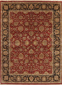 Floral Red Agra Indo Oriental Area 9x12
