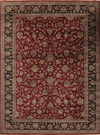 All-Over Floral Red Agra Indo Oriental Area 9x12