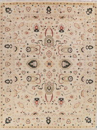 All-Over Floral Oushak Indian Oriental Area Rug 9x12