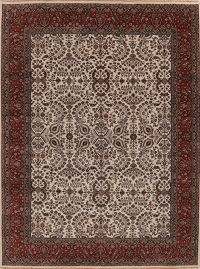 All-Over Floral Ivory Agra Indo Oriental Area Rug 9x12