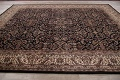 All-Over Black Floral Agra Oriental Wool Rug 9x12 image 15