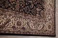 All-Over Black Floral Agra Oriental Wool Rug 9x12 image 14