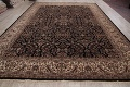 All-Over Black Floral Agra Oriental Wool Rug 9x12 image 16