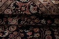 All-Over Black Floral Agra Oriental Wool Rug 9x12 image 18